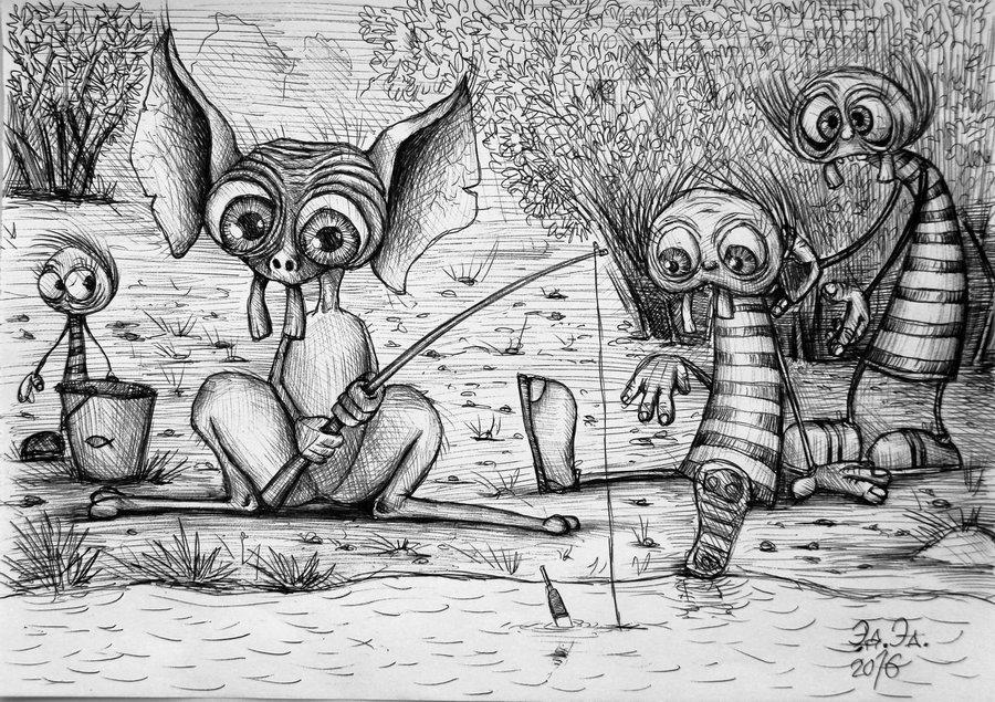Лупатики на рыбалке