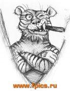 Тигр с сигарой